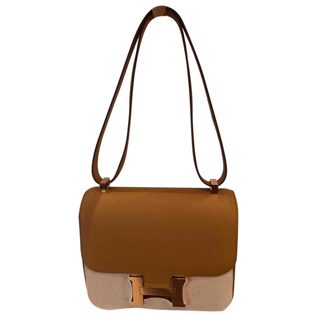 Hermès Constance Camel Leather handbag for Women \N