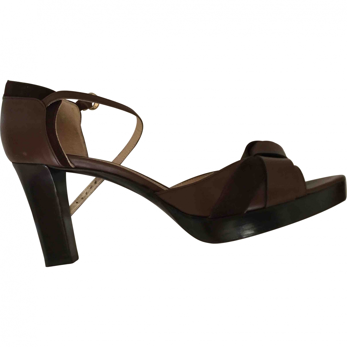 Max Mara \N Brown Leather Sandals for Women 40 EU