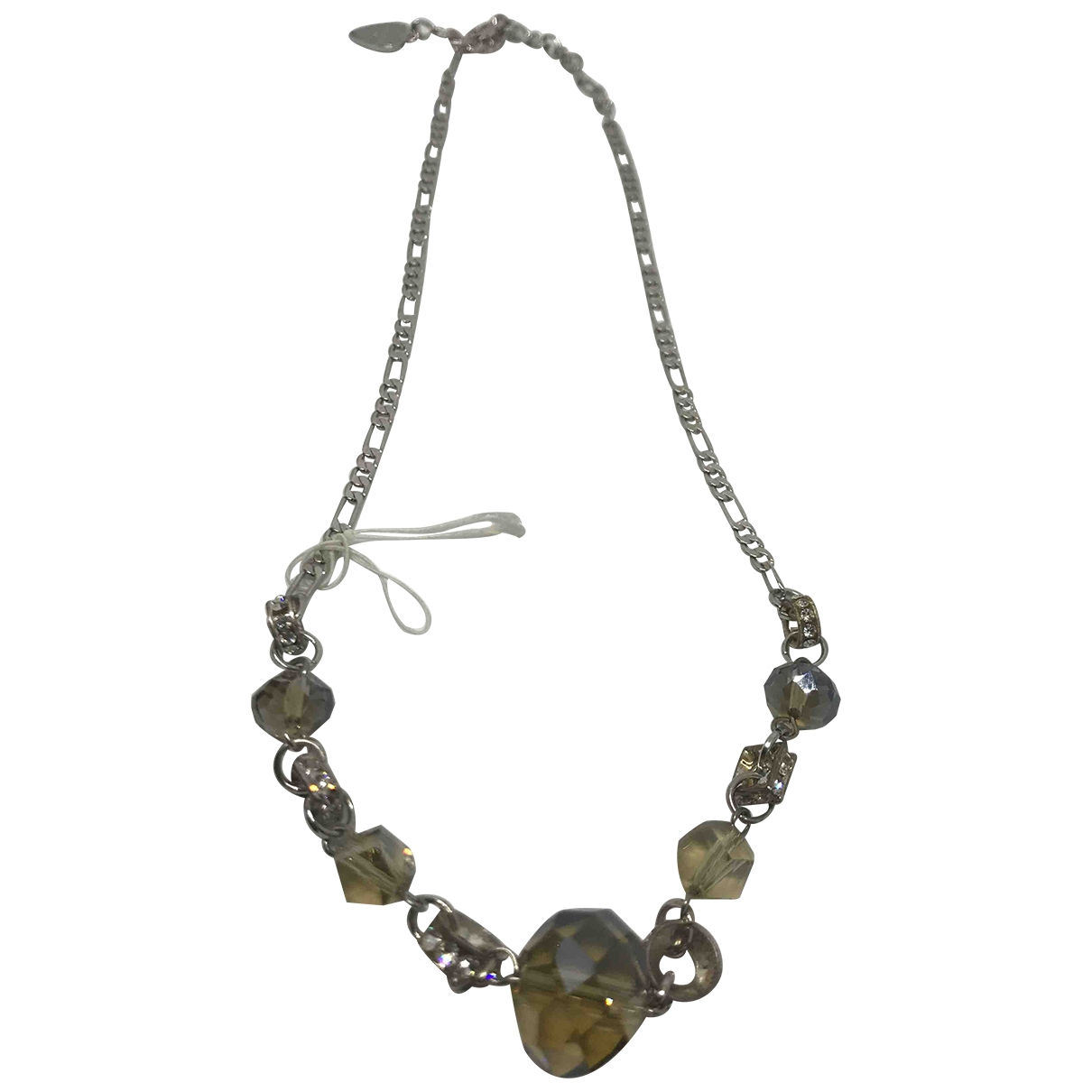 Non Signé / Unsigned \N Silver Steel necklace for Women \N