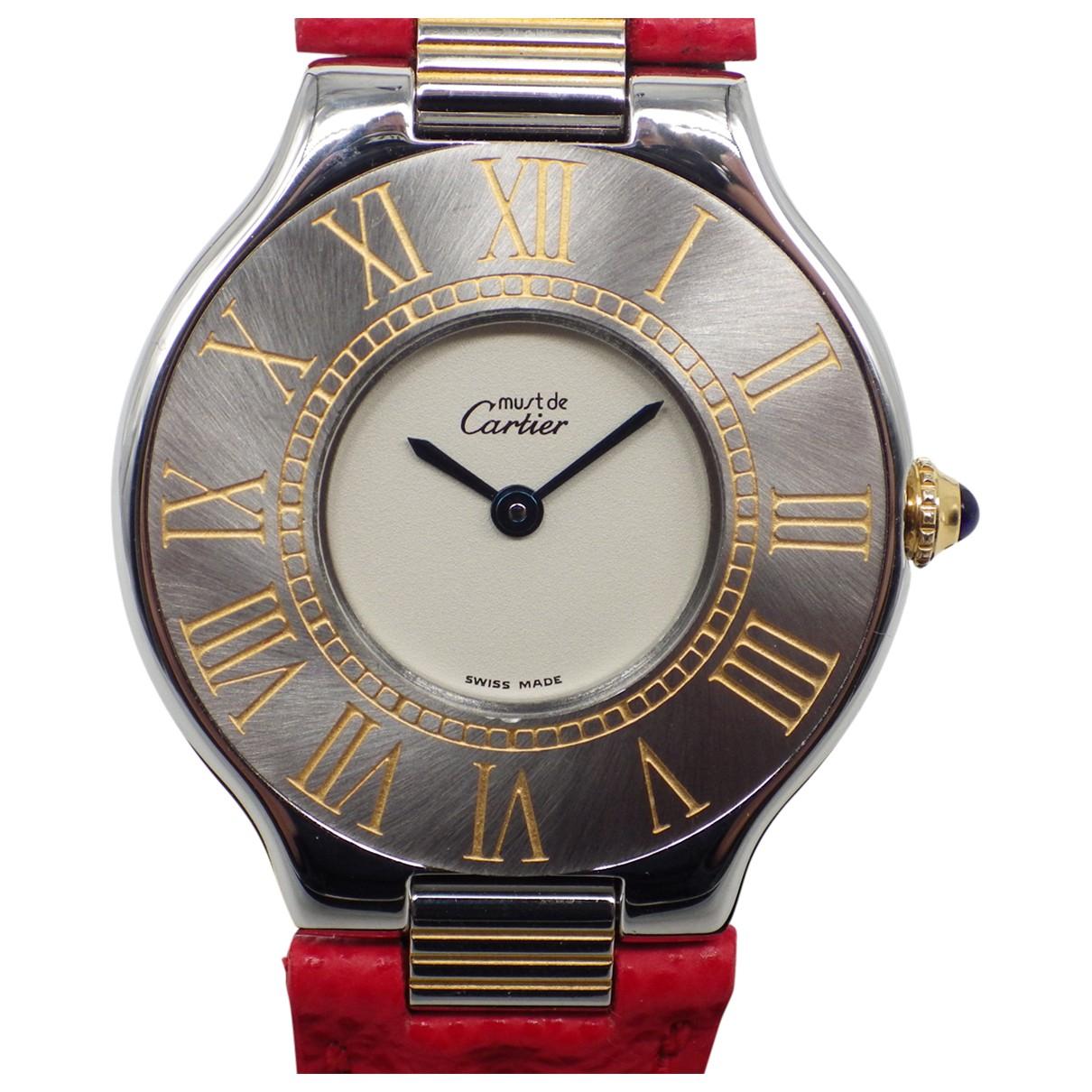 Cartier - Montre Must 21 pour femme en acier