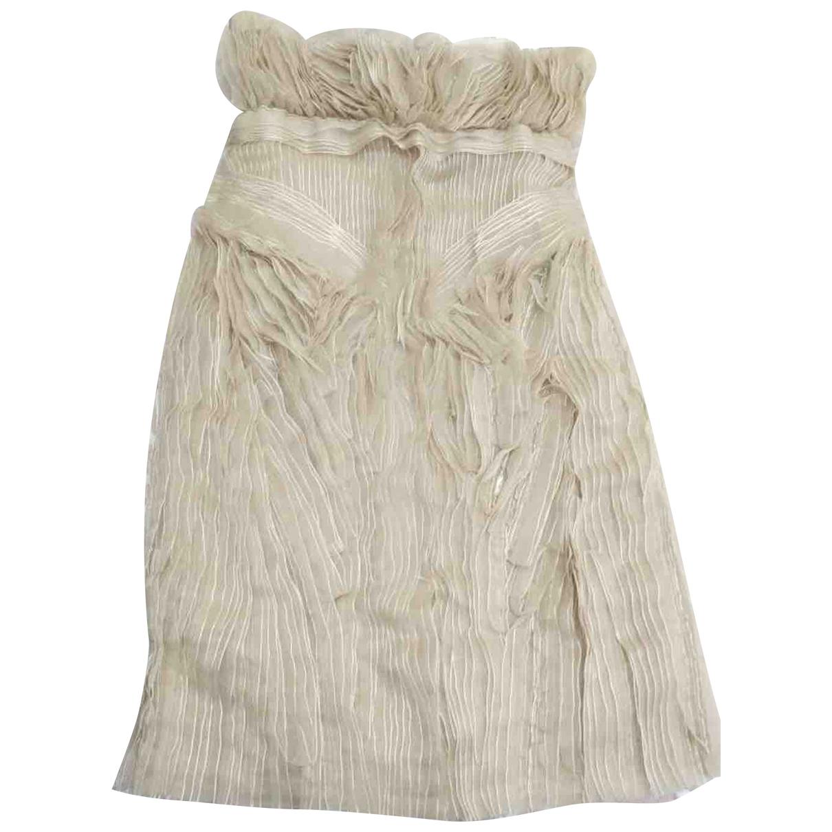 Loewe - Robe   pour femme en soie - ecru