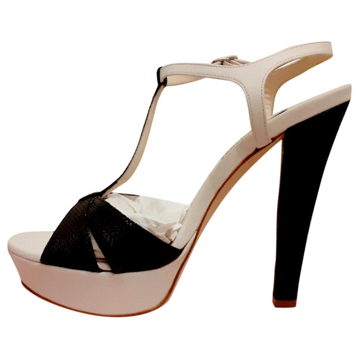 Gianni Marra - Sandales   pour femme en cuir - blanc