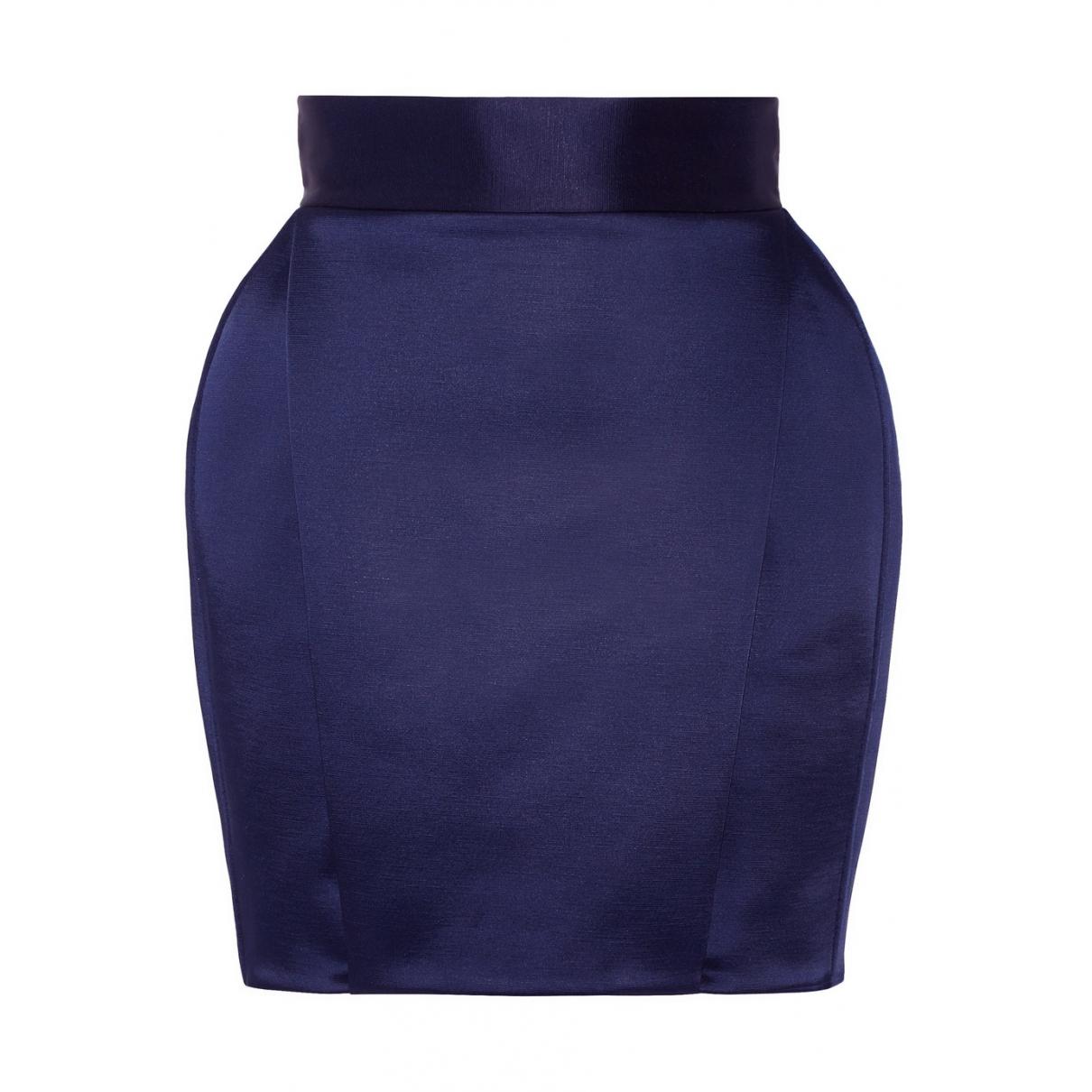 Balmain \N Blue Cotton skirt for Women 38 FR