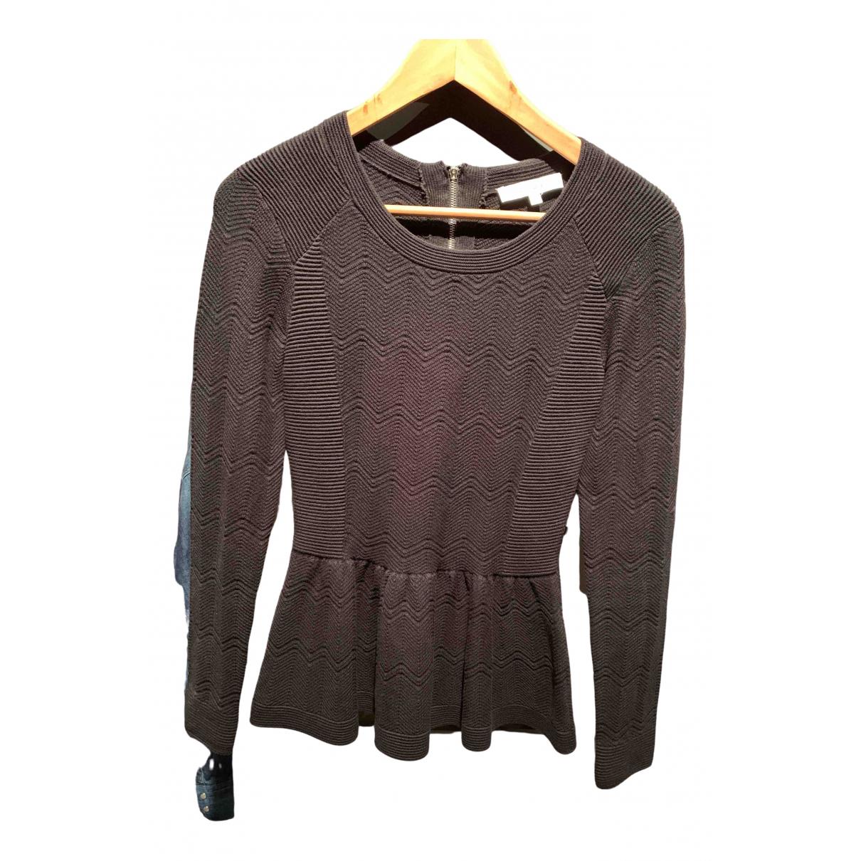 Sandro - Pull   pour femme en coton - noir