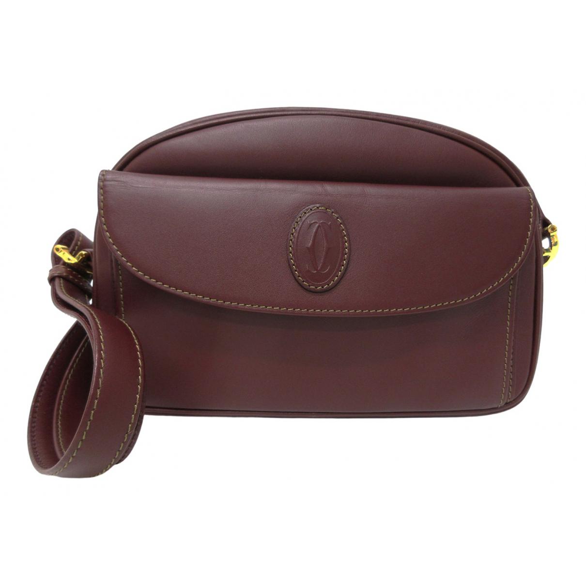 Cartier - Sac a main   pour femme en cuir - bordeaux