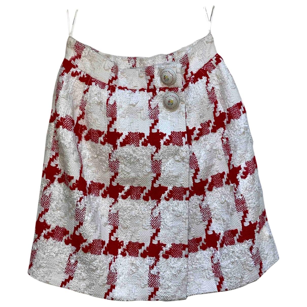 Alexander Mcqueen - Jupe   pour femme en coton - rouge