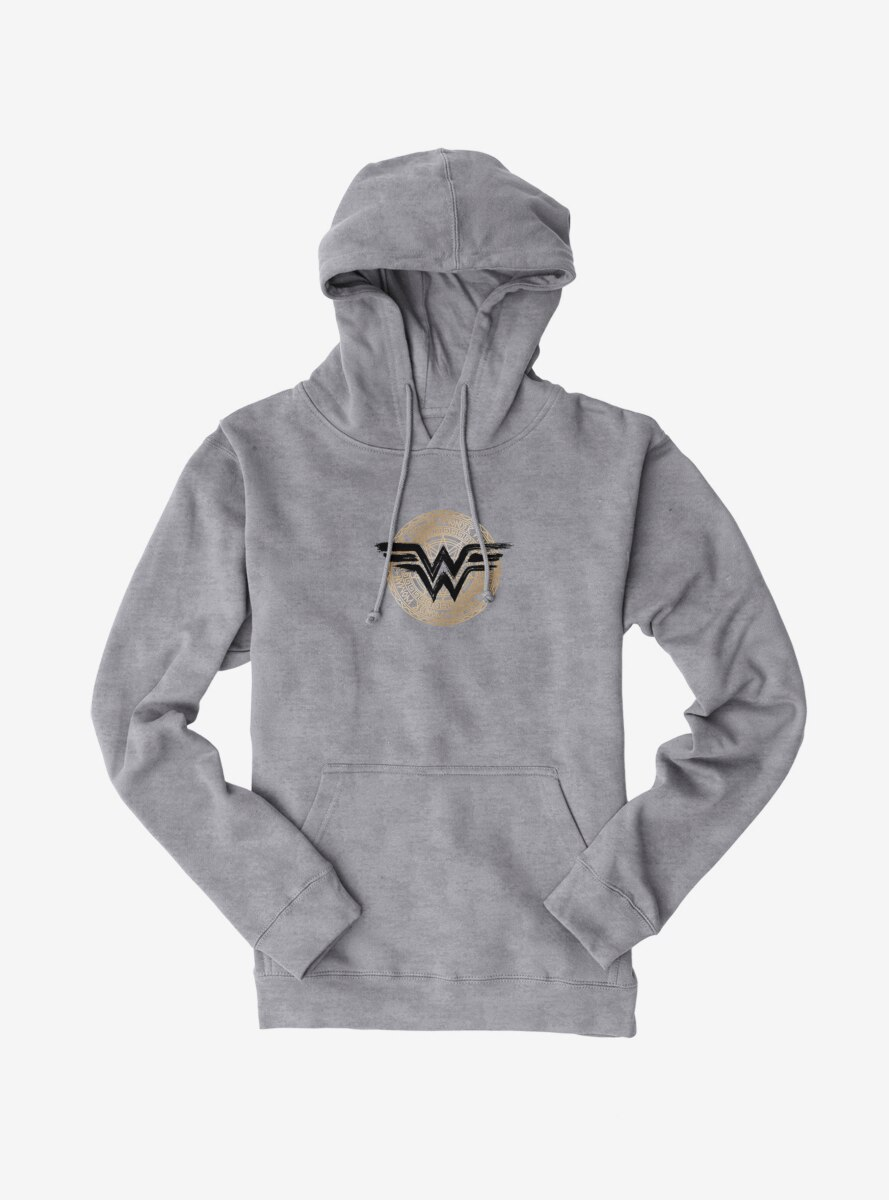 DC Comics Wonder Woman Black Logo Symbol Hoodie