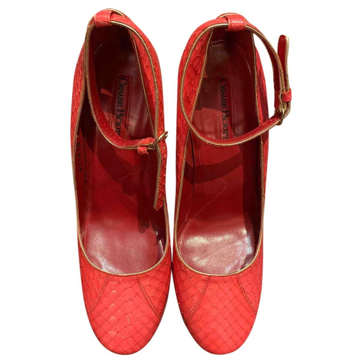 Cesare Paciotti N Exotic leathers Sandals for Women 37 EU