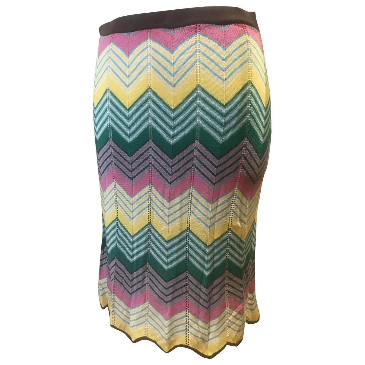 Bcbg Max Azria - Jupe   pour femme en soie - multicolore
