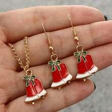 3pcs Christmas Hat Jewelry Set