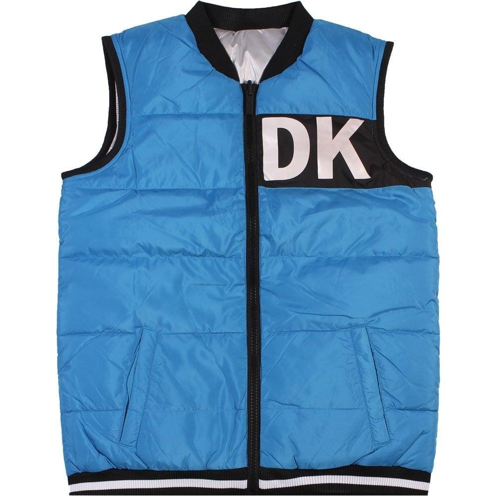 DKNY Kids Logo Gilet Blue  Colour: BLUE, Size: 12 YEARS