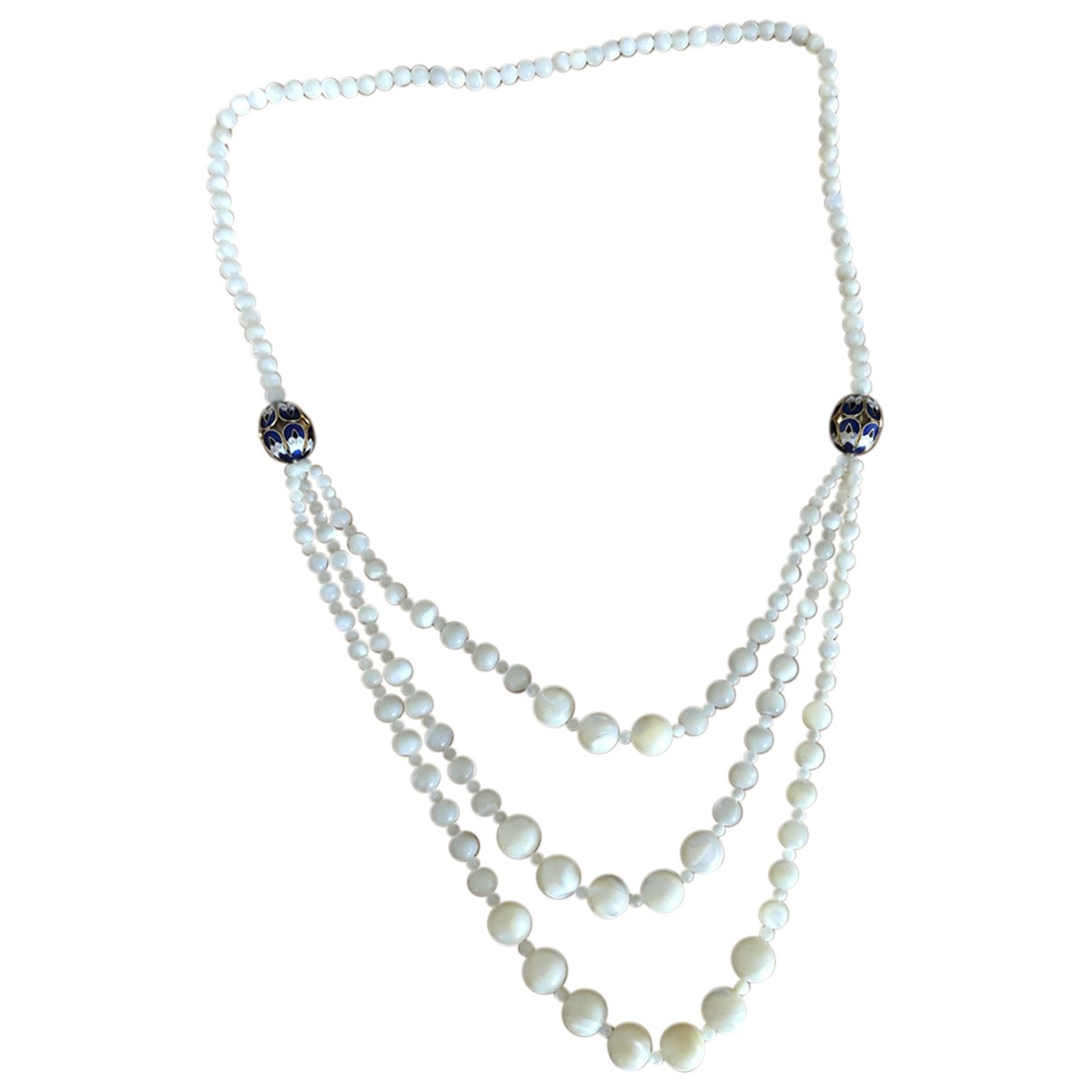 Non Signé / Unsigned Art Déco White Pearls Long necklace for Women \N