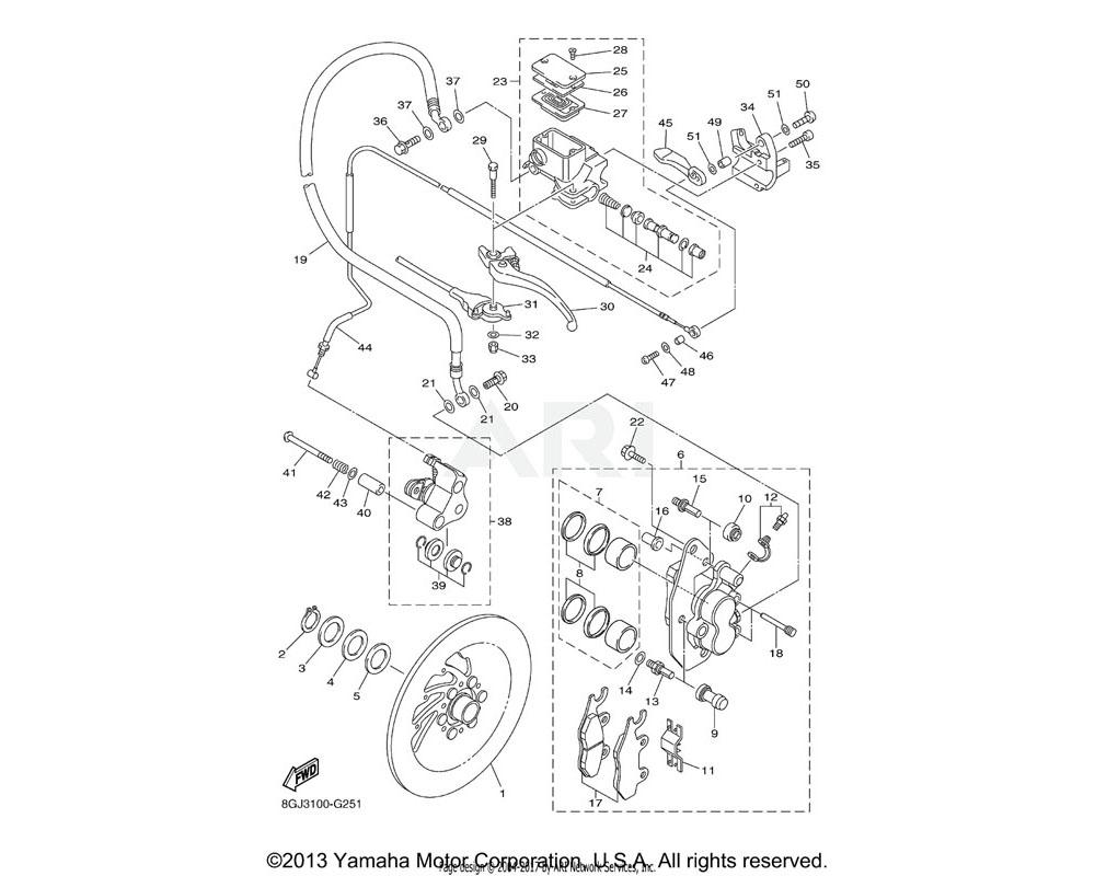 Yamaha OEM 8GJ-25872-10-00 HOSE, BRAKE 1