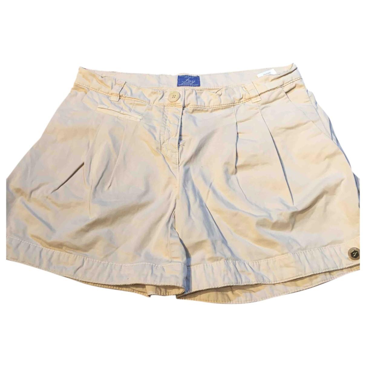 Fay - Short   pour enfant en coton - beige