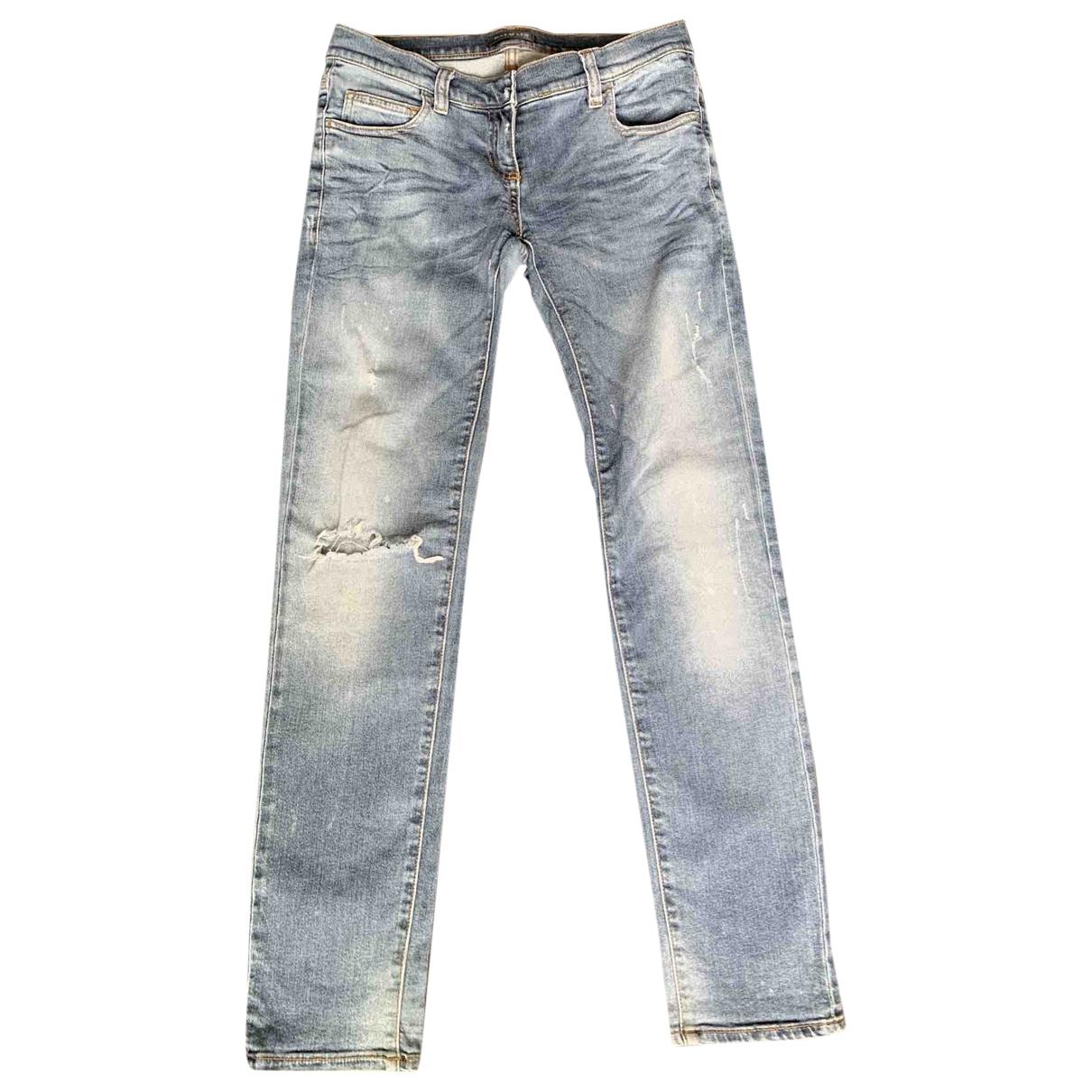 Balmain \N Jeans in  Blau Baumwolle - Elasthan