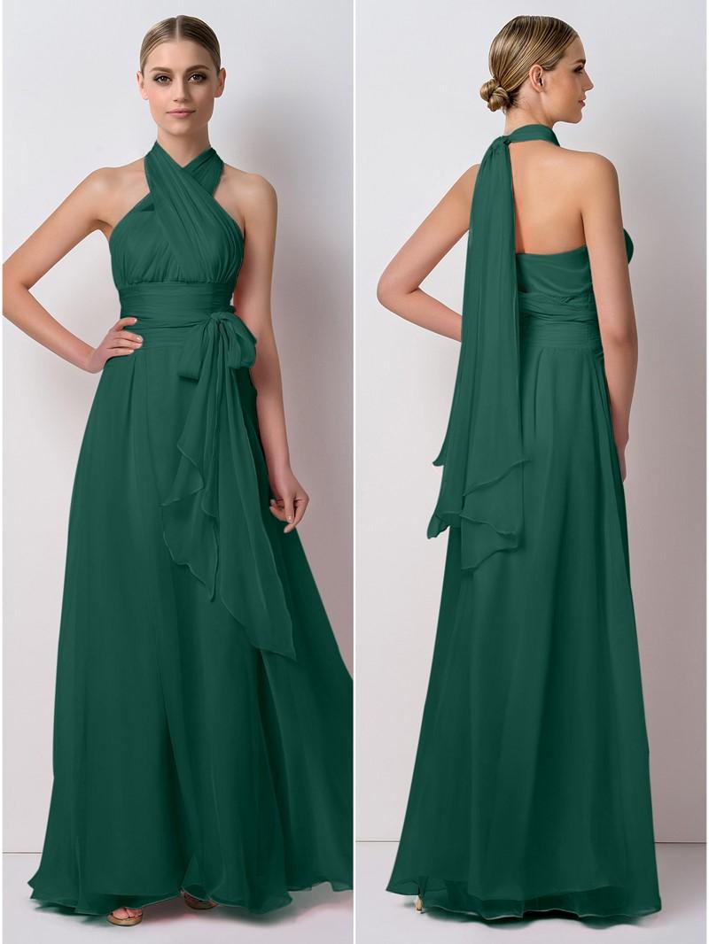 Ericdress Unique Sashes Convertible Long Bridesmaid Dress