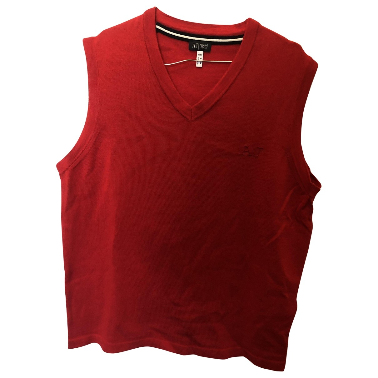 Armani Jeans \N Pullover.Westen.Sweatshirts  in  Rot Wolle