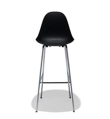TA Collection TO-1555B-1507-C Bar Stool/Black Seat+Chrome