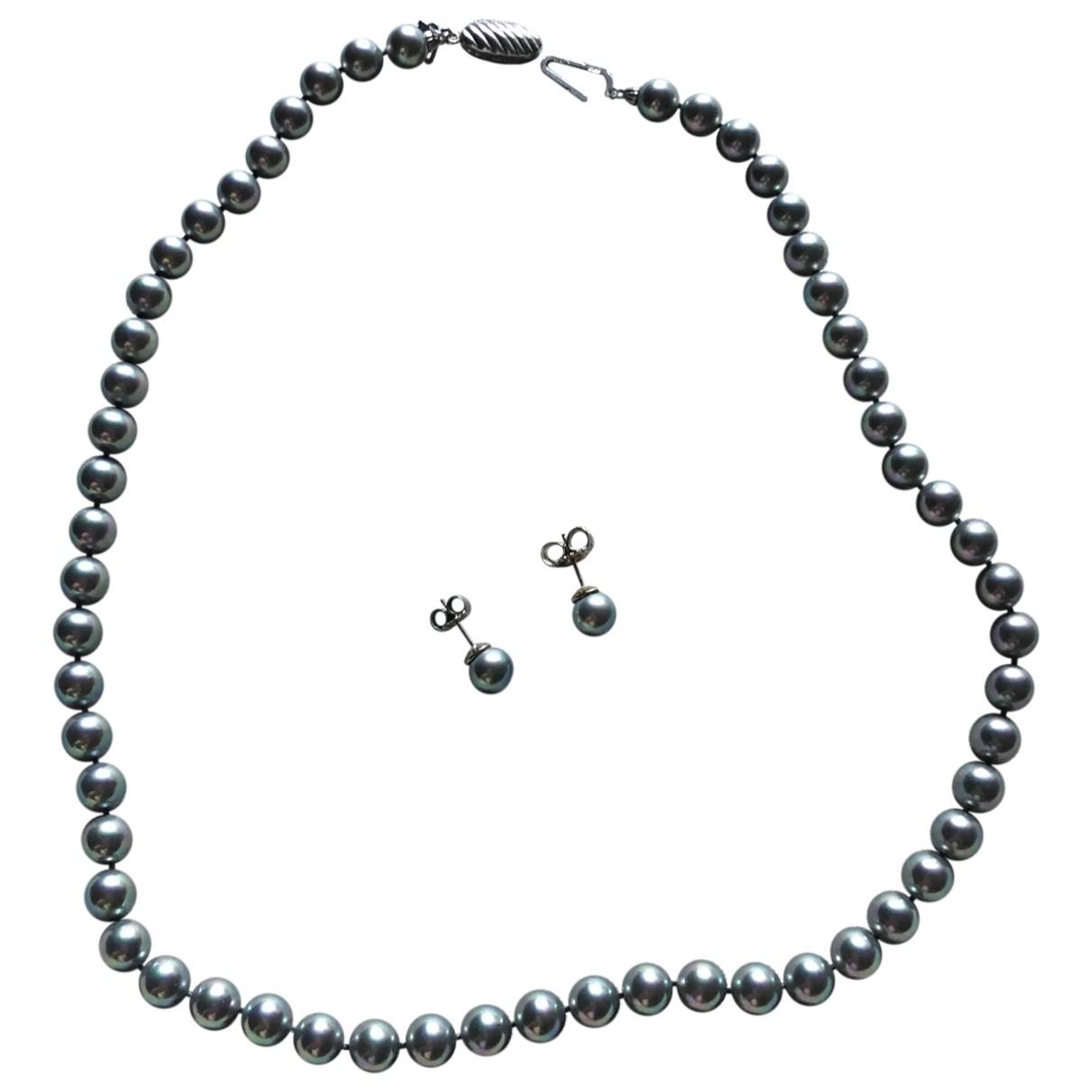 Autre Marque - Collier   pour femme en perle - gris