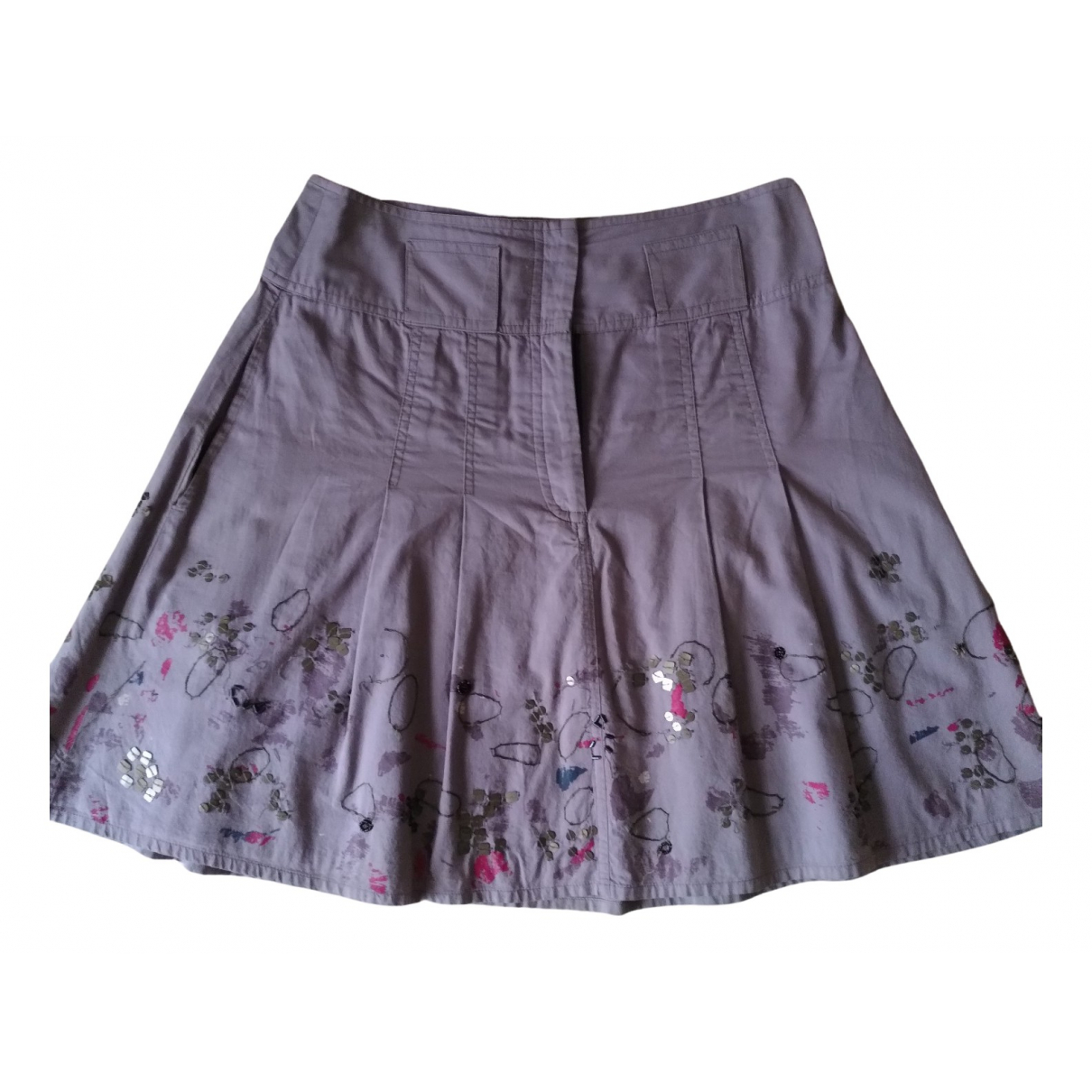 Max & Co N Purple Cotton skirt for Women 40 IT