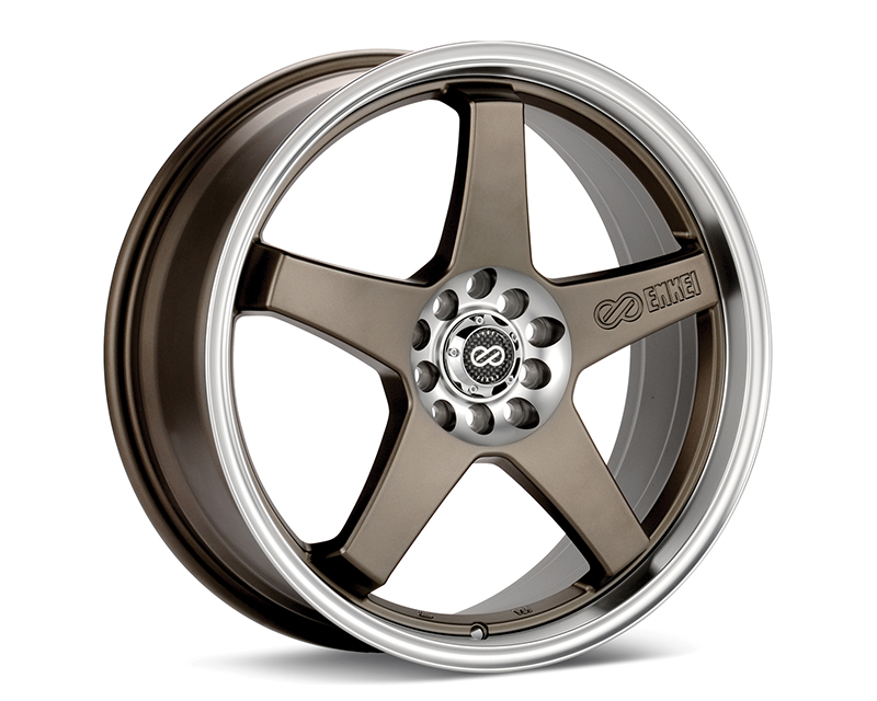 Enkei EV5 Wheel Performance Series Bronze w/ Machined Lip 18x7.5 5x100/114.3 45mm