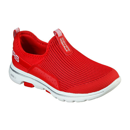 Skechers Go Walk 5 - Sovereign Womens Walking Shoes, 6 Medium, Red