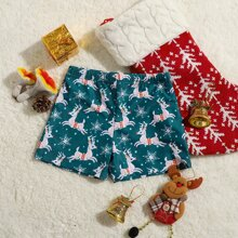 Toddler Boys Christmas Deer Swim Shorts