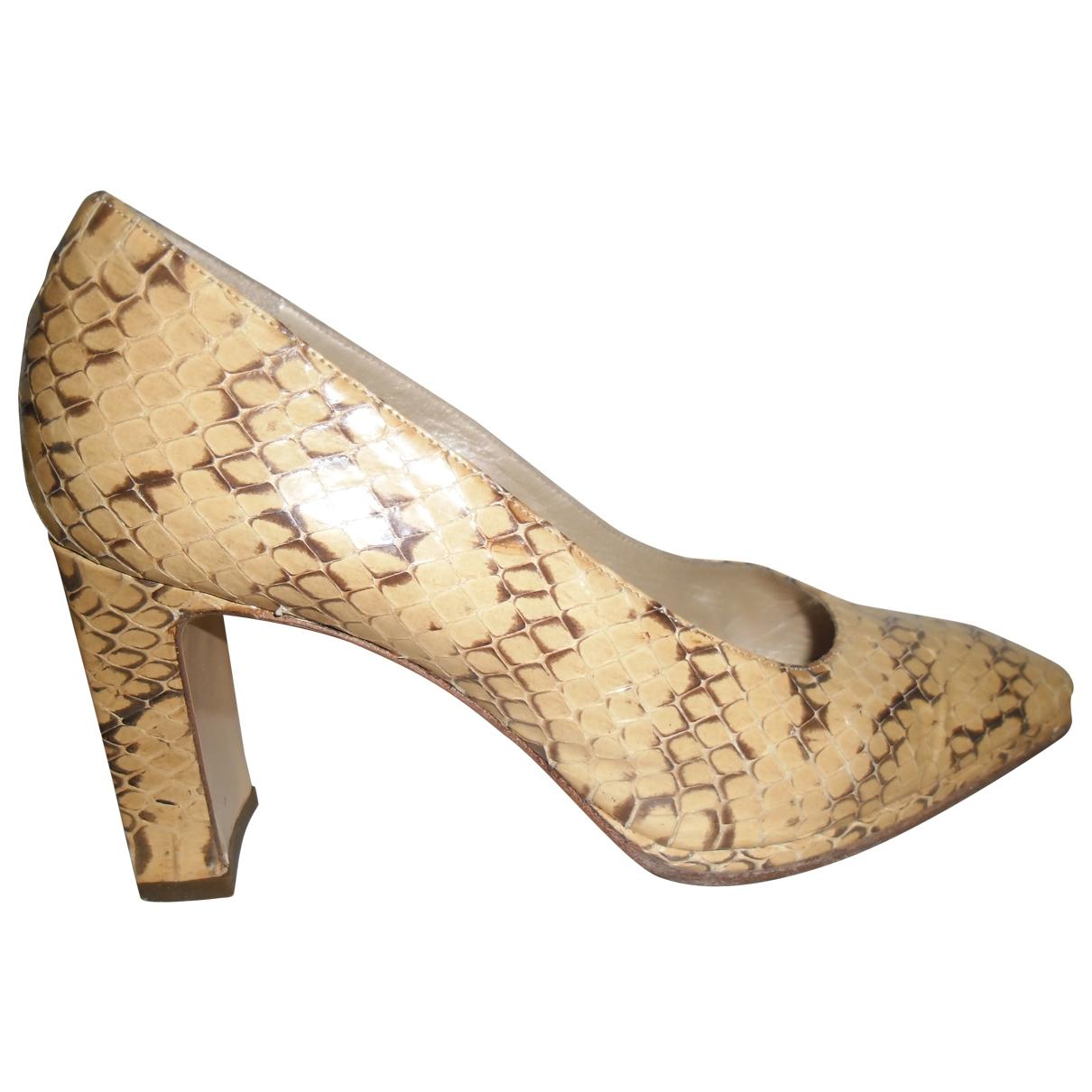 Valentino Garavani \N Beige Water snake Heels for Women 36 EU