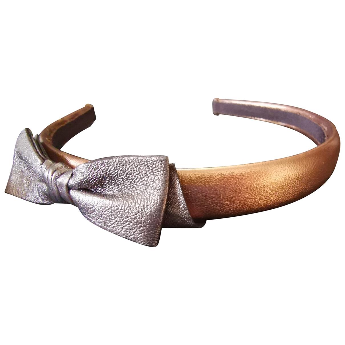 Miu Miu \N Haarschmuck in  Metallic Leder