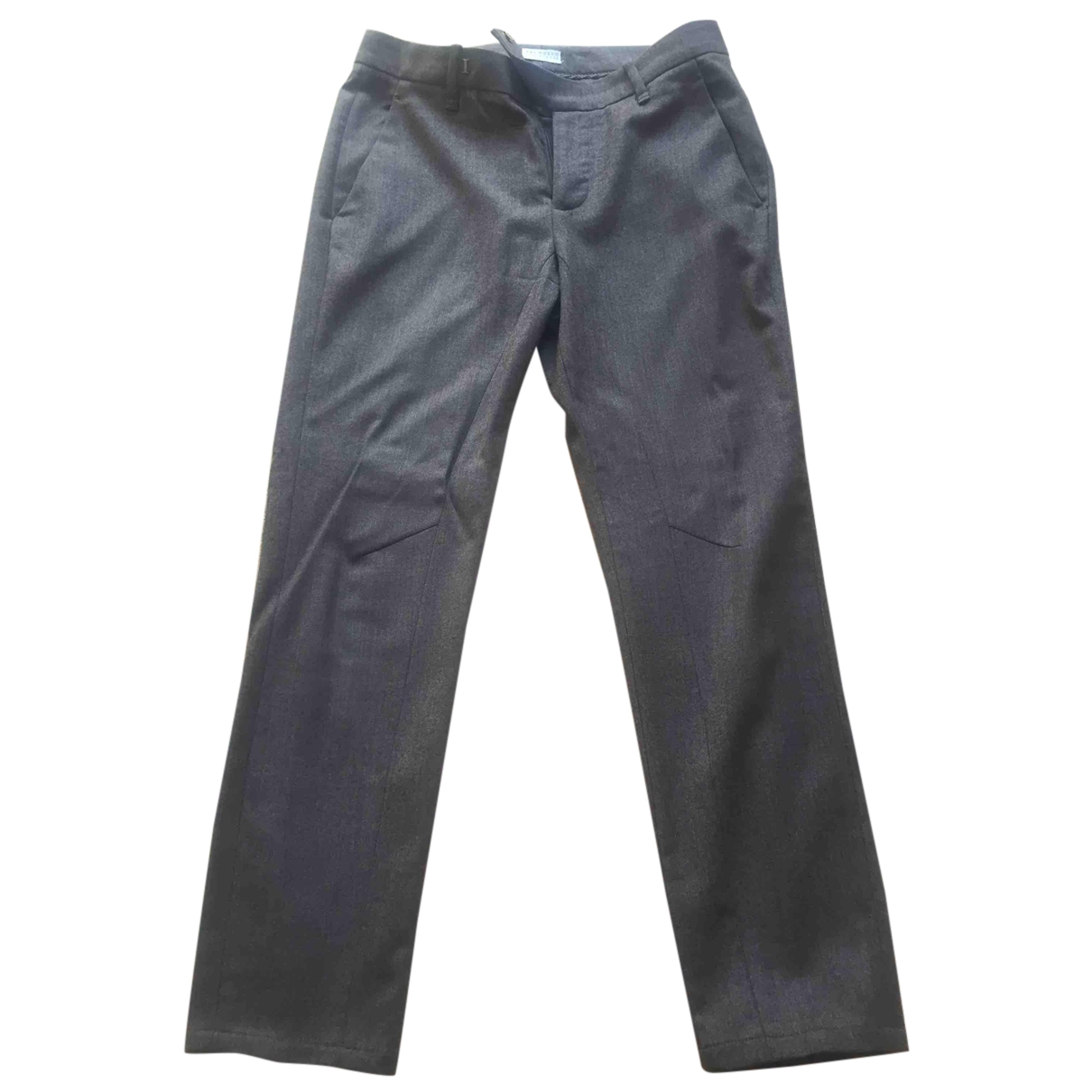 Brunello Cucinelli \N Brown Wool Trousers for Women 38 IT