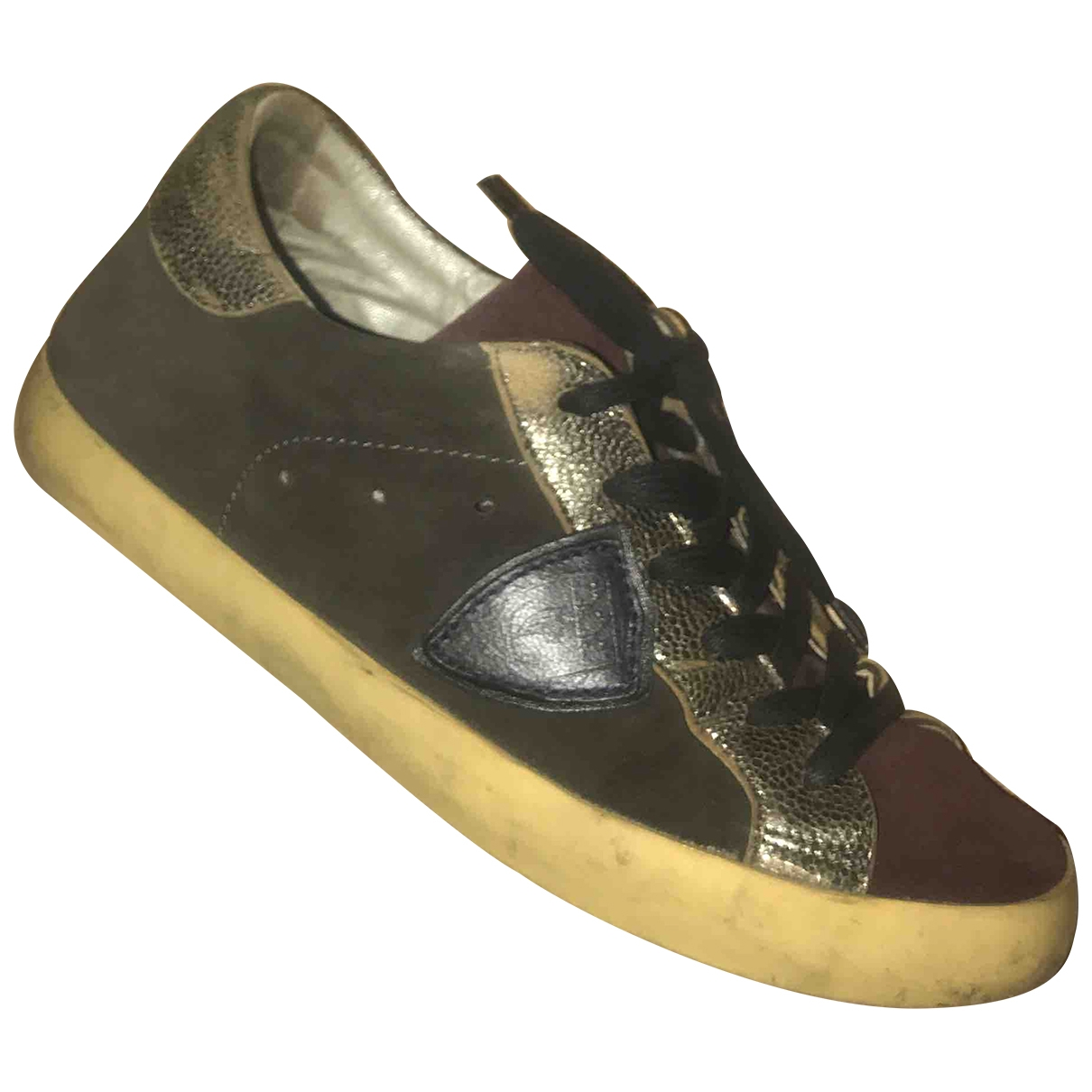 Philippe Model \N Sneakers in  Bordeauxrot Leder