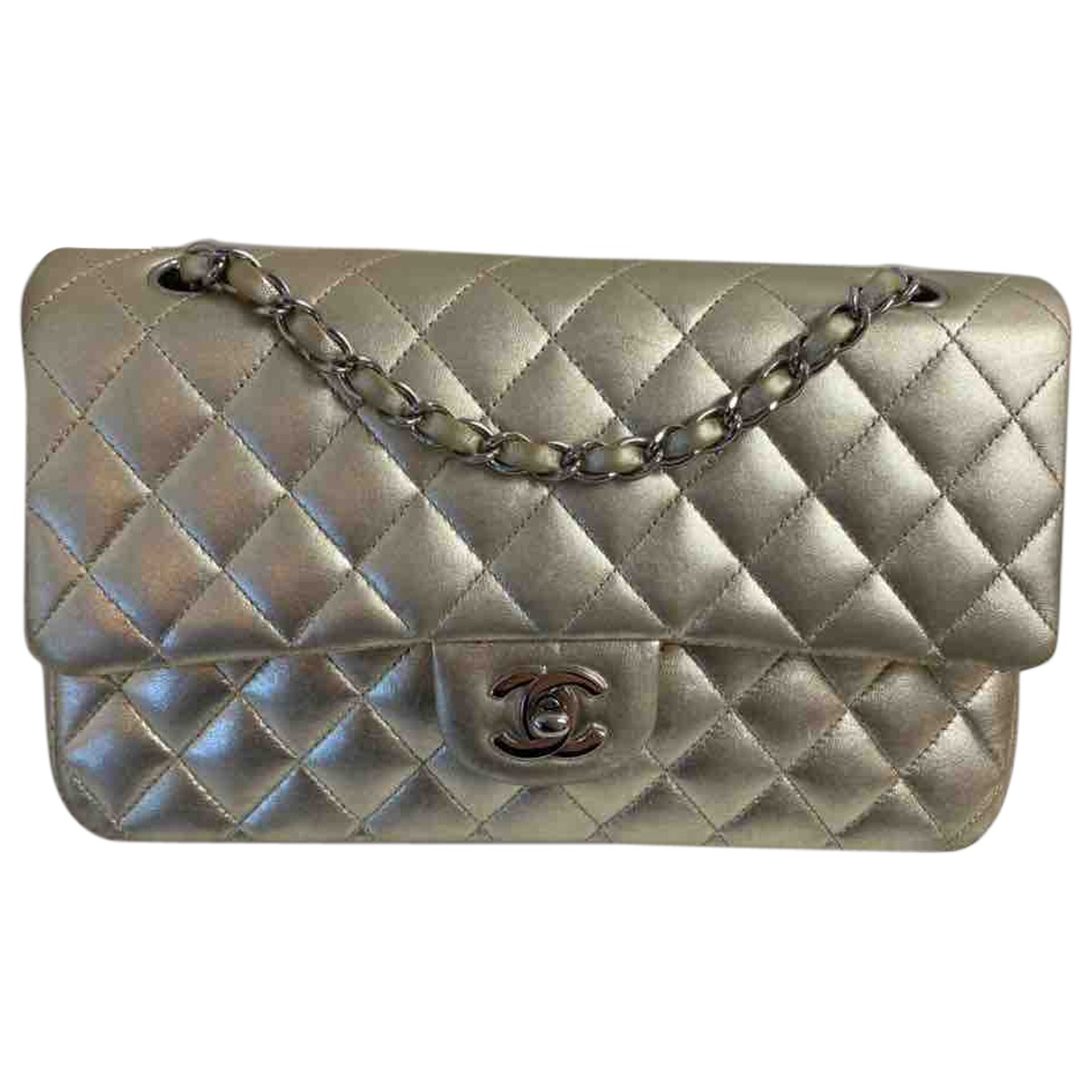 Chanel Timeless/Classique Gold Leather handbag for Women \N
