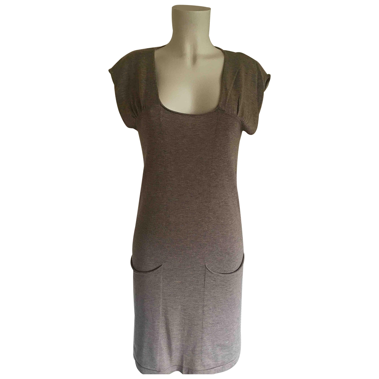 Eric Bompard \N Beige Cashmere dress for Women 36 FR