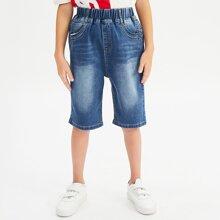 Toddler Boy Washed Denim Shorts
