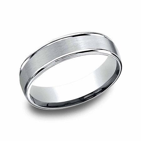 Mens Platinum 6mm Comfort-Fit Wedding Band, 11 , No Color Family