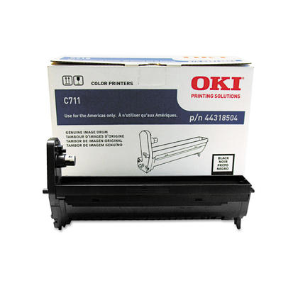Okidata 44318504 Type C16 Original Black Drum for C711 Printer