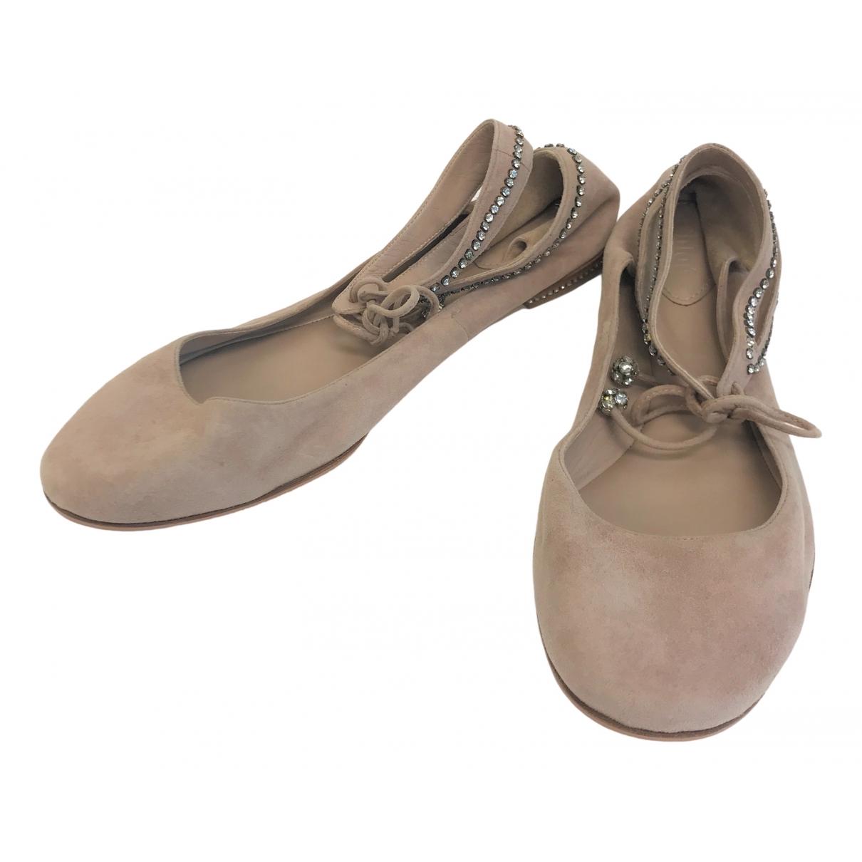 Chloé \N Pink Suede Ballet flats for Women 38.5 EU