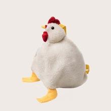Girls Cartoon Chicken Shaped Fluffy Crossbody Bag