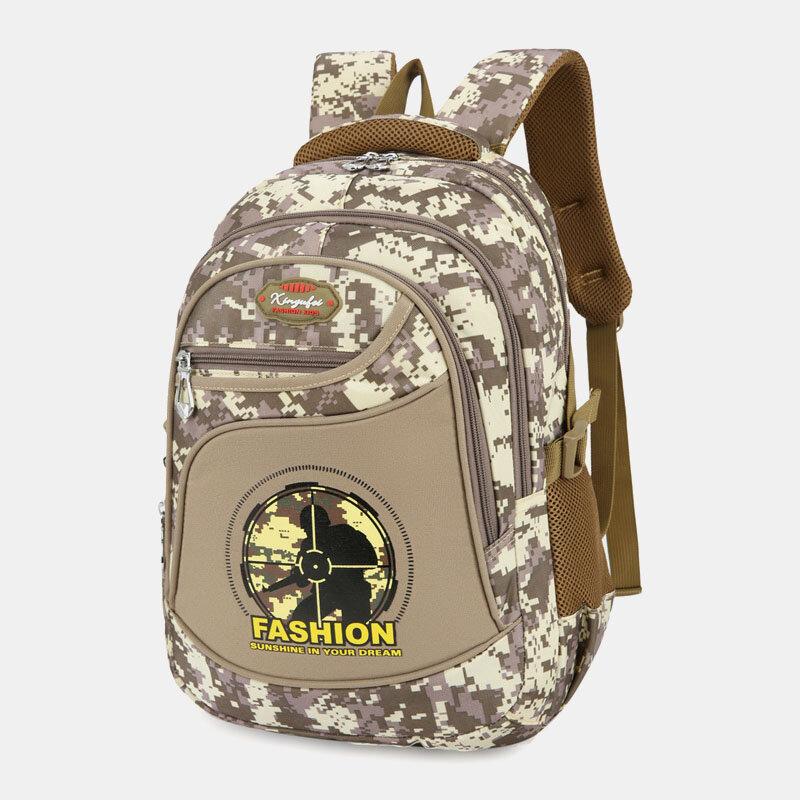 Men Camo Waterproof Large Capacity Outdoor Travel Backpack