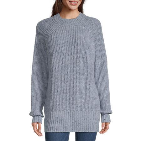 Arizona Juniors Womens Crew Neck Long Sleeve Sweatshirt, Xx-large , Blue