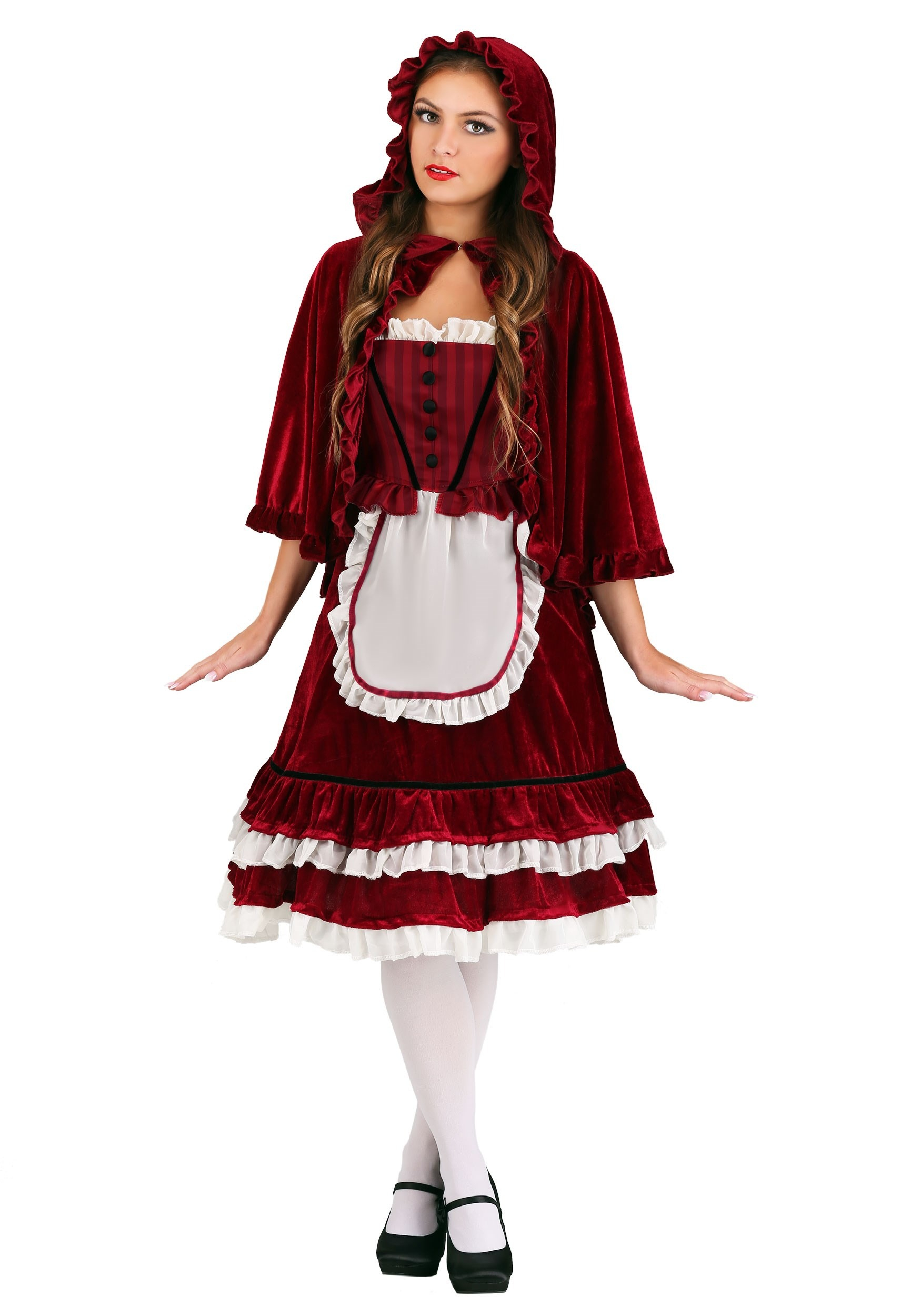Classic Red Riding Hood Costume for Women