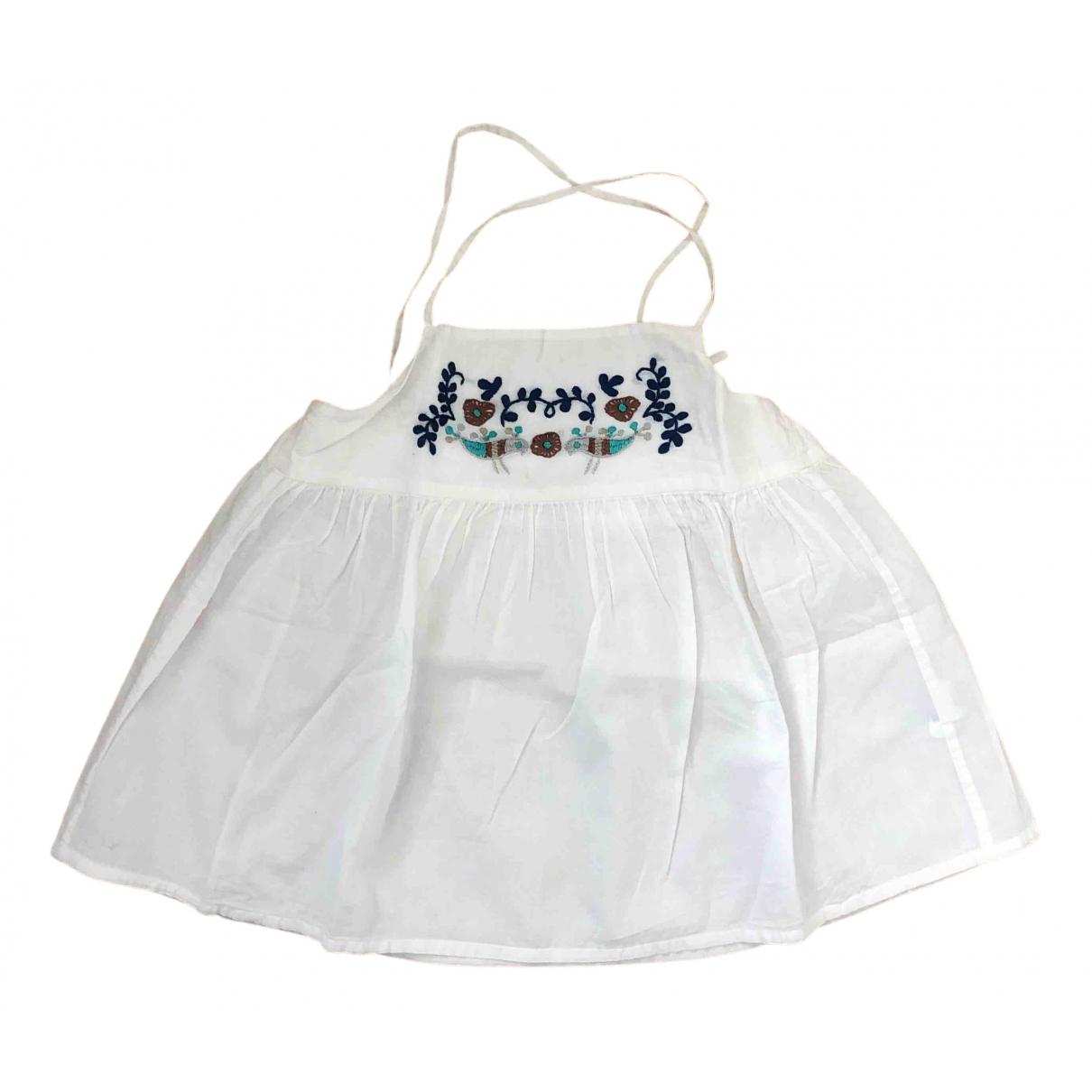 Bonpoint - Top   pour enfant en coton - blanc