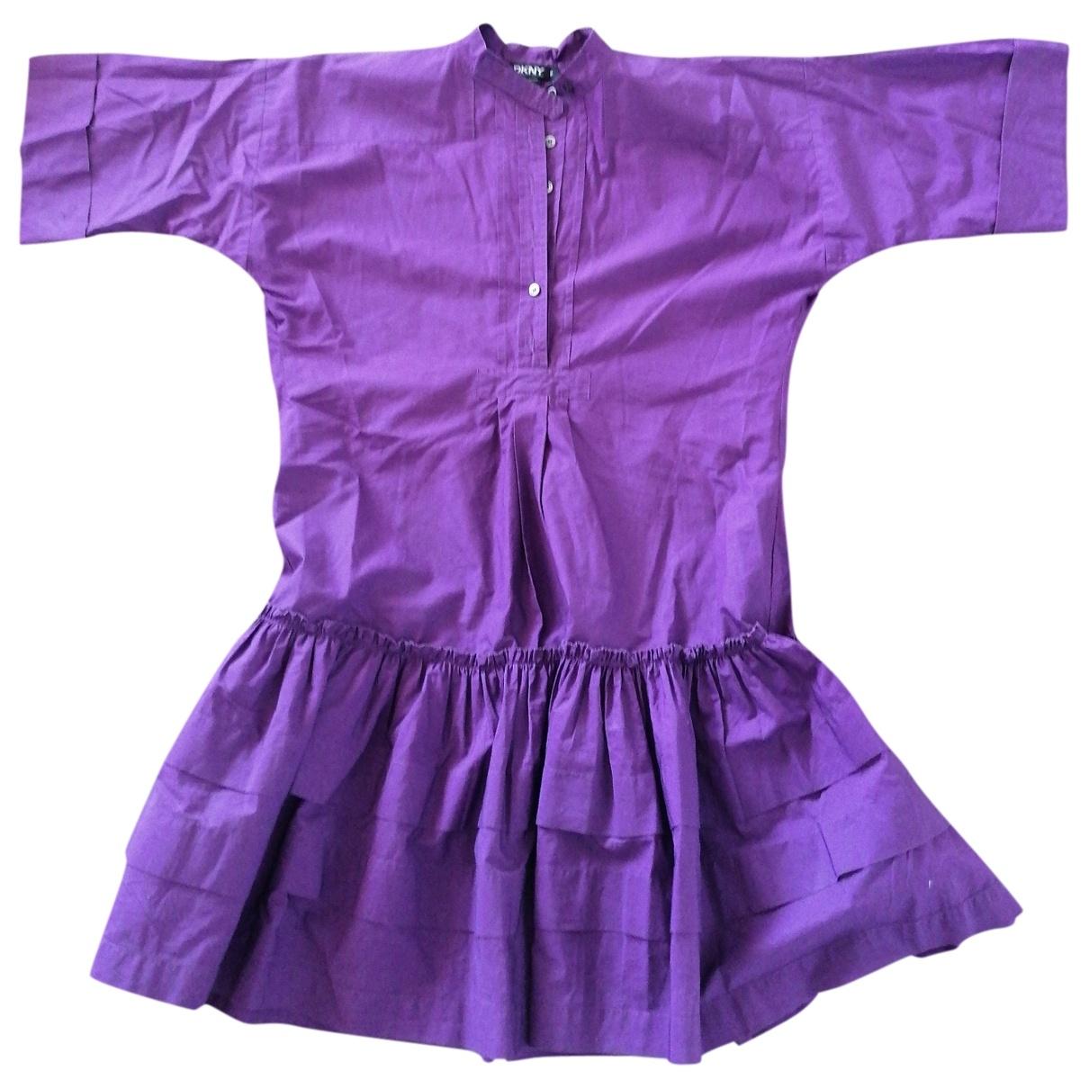 Dkny \N Purple Cotton dress for Women 38 IT