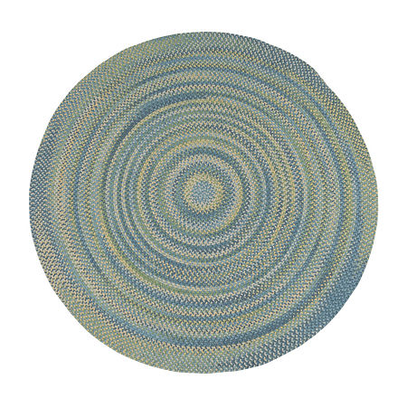 Colonial Mills Greenbrier Reversible Braided Wool Round Rug, One Size , Blue