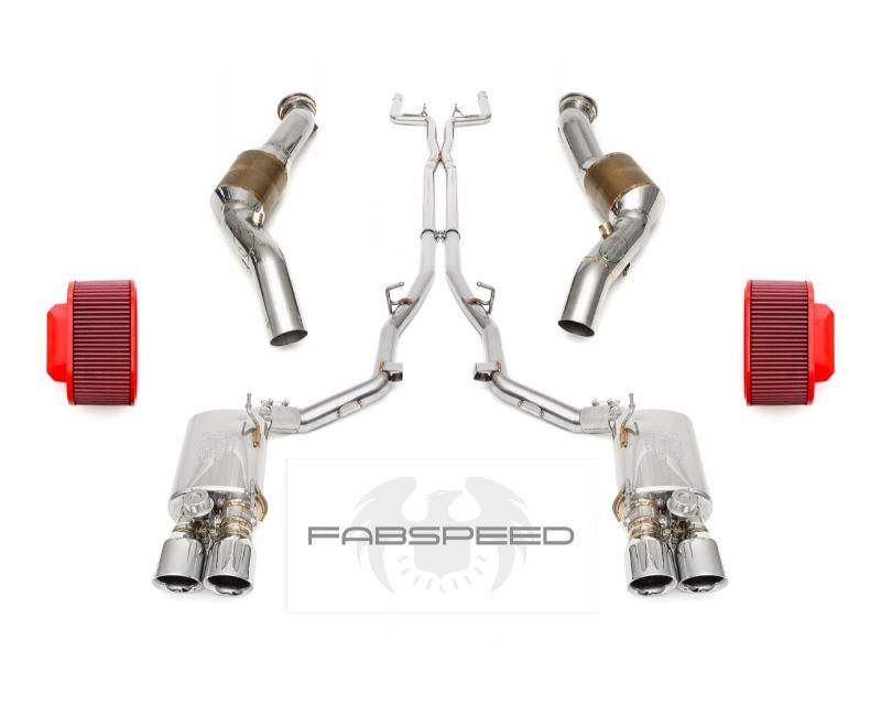 Fabspeed FS.MAS.GHQ4.PKGSECU STREET Performance Package with ECU Software Tune - Polished Chrome Tips for Maserati Ghibli Q4