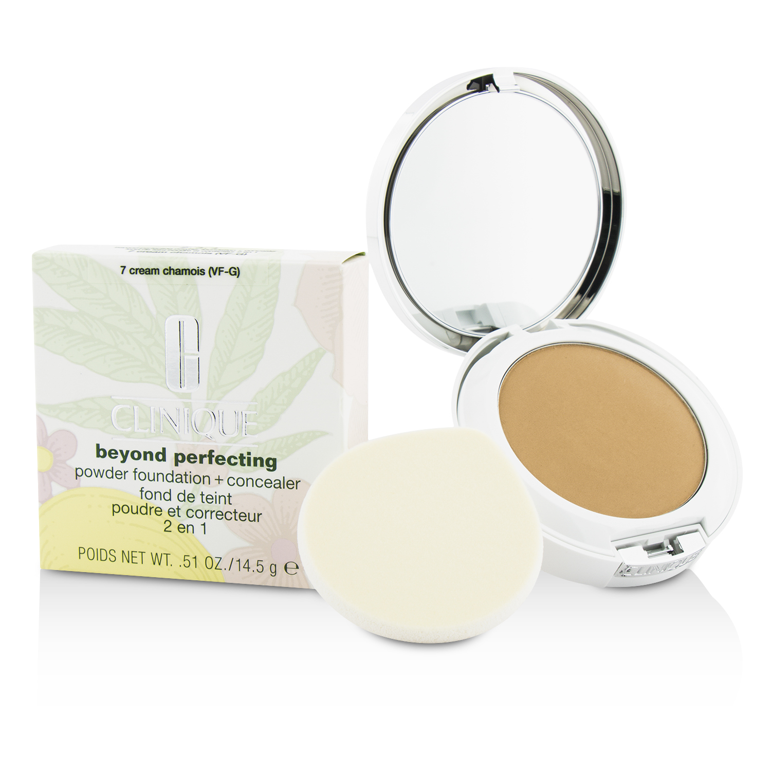 Beyond Perfecting Powder Foundation + Concealer - 07 Cream Chamois (very fair, cool-neutral undertones)