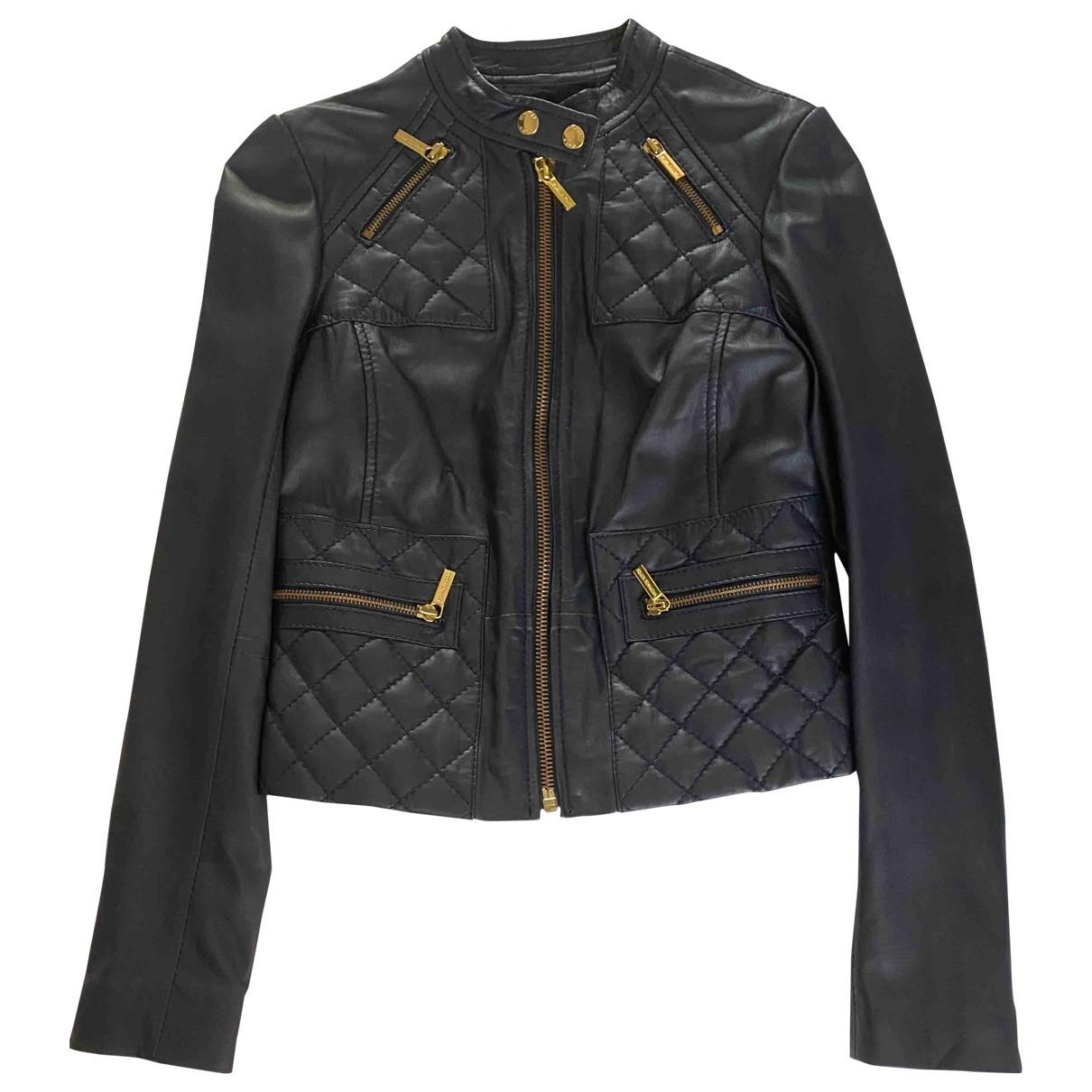 Michael Kors \N Blue Leather jacket for Women XS International