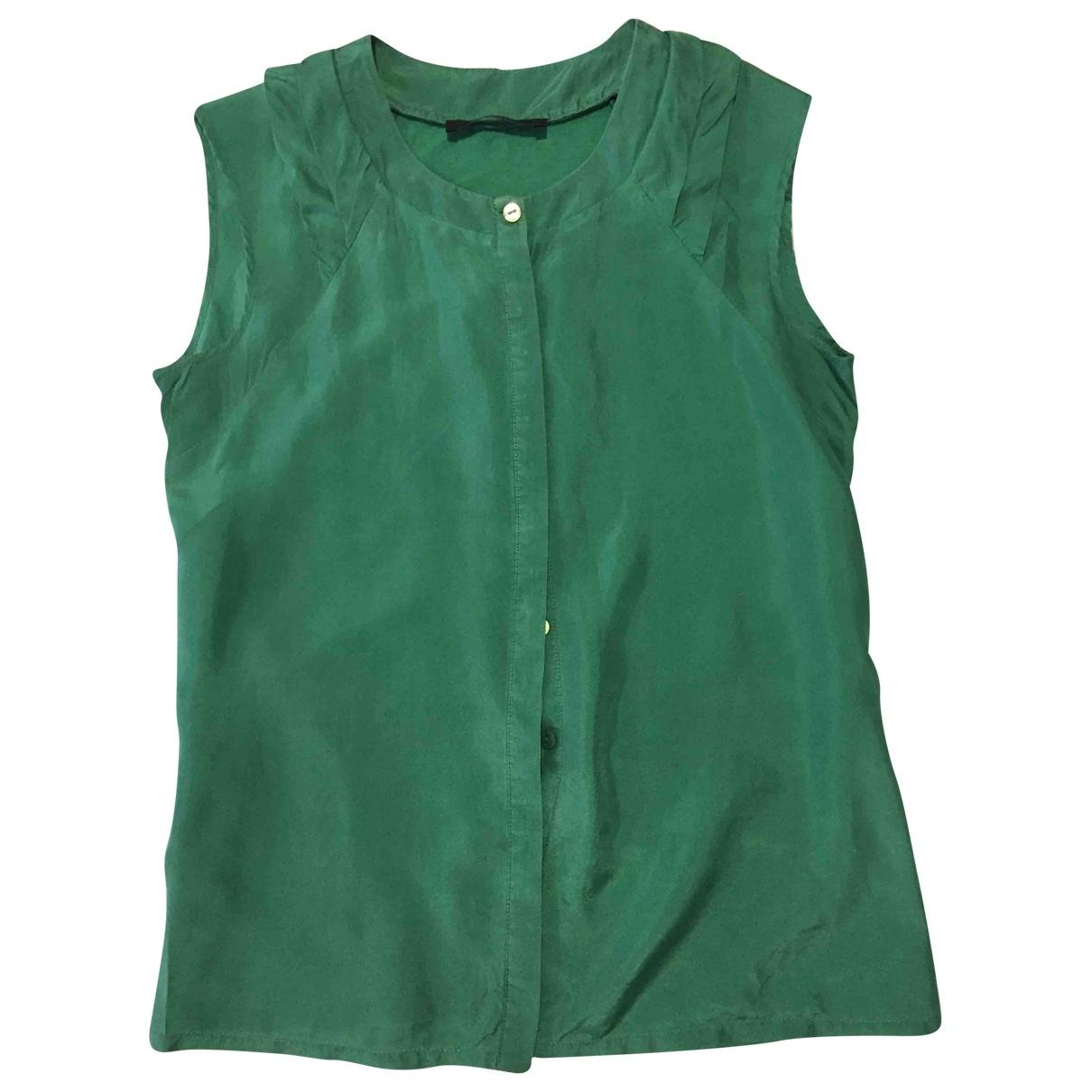 Max Mara Weekend \N Green Silk  top for Women 42 IT