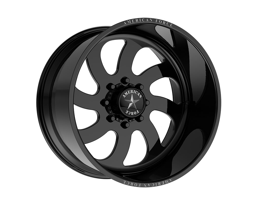 American Force AFTW76LD22-2-20 AFW 76 Blade SS Wheel 22.00x16.00 8x165.10 -101mm Gloss Black - Left Directional