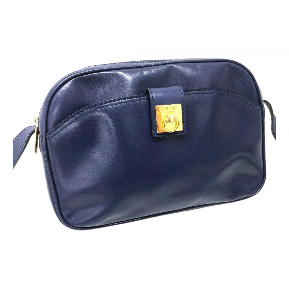 Celine \N Handtasche in  Marine Leder